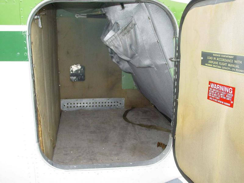 1956 Beechcraft G35 Bonanza baggage door