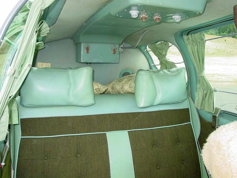 1956 Beechcraft G35 Bonanza rear seat