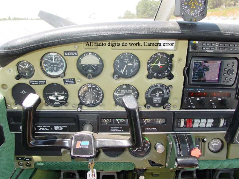 1974 Piper PA-28-151 $38,500. N43326 left panel