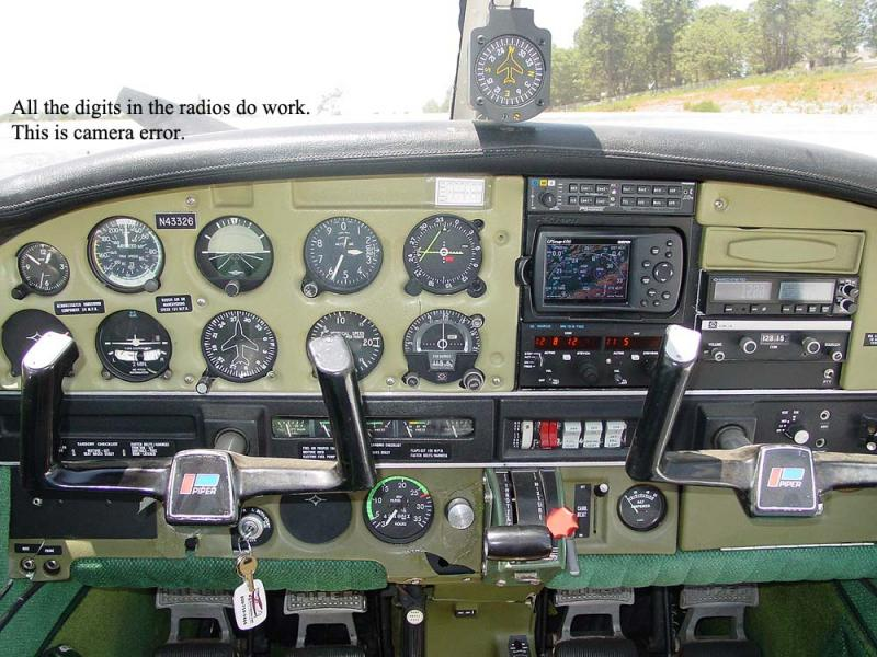1974 Piper PA-28-151 $38,500. N43326 panel