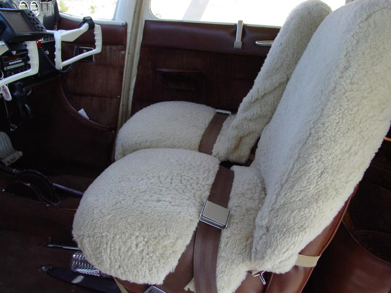 1955 Cessna 180 Skywagon Front Seats