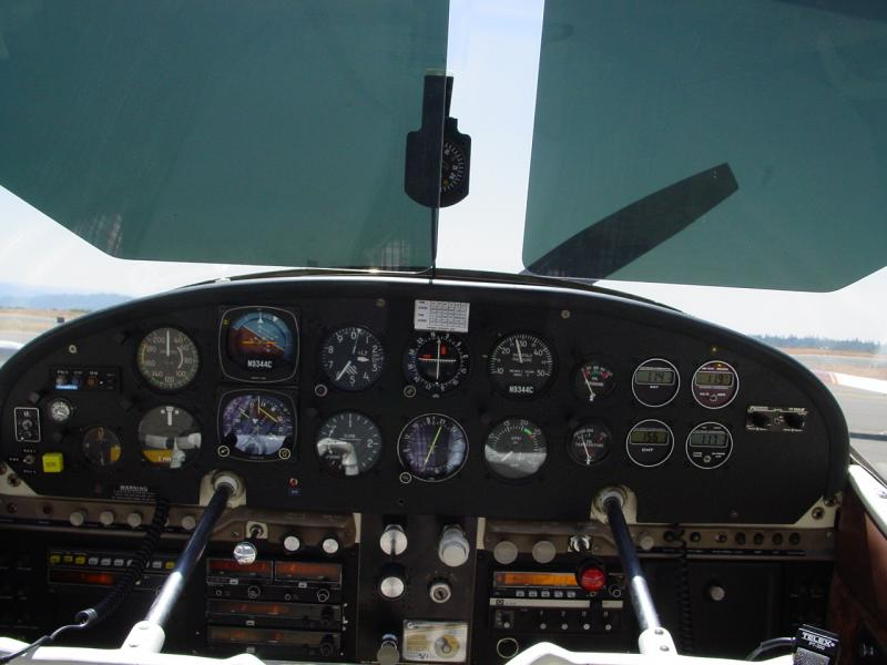 1955 Cessna 180 Skywagon Panel and Rosen Visors