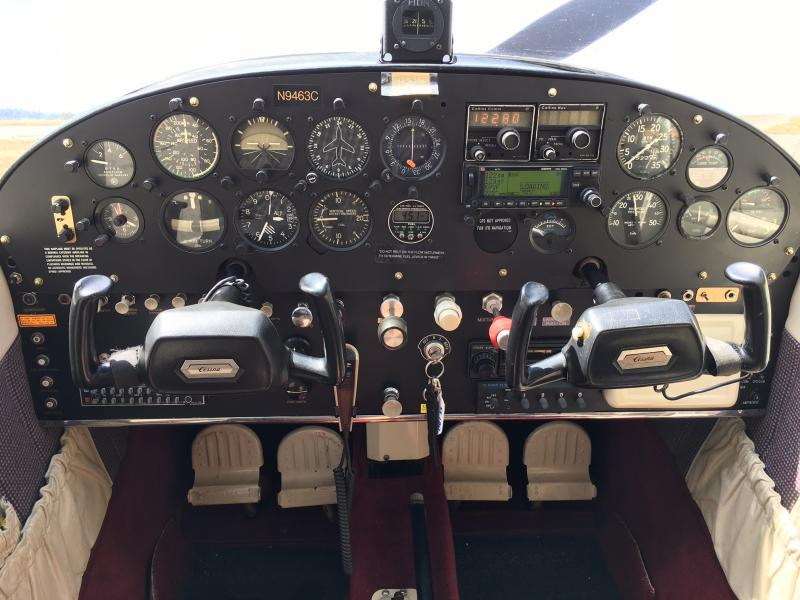1955 Cessna 180 Skywagon Panel