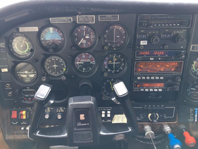1980 Cessna TU206G Float Kitted Stationair Panel